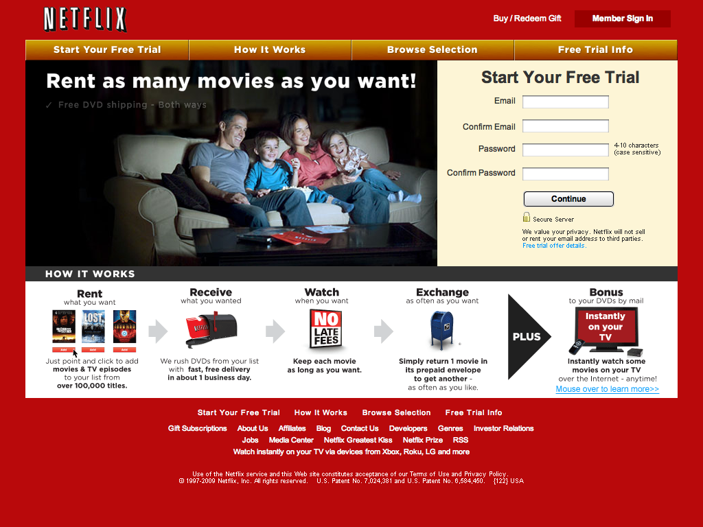 Netflix DVD Rental, Watch Movies Online, DVD Movie Rental, Blu-Ray